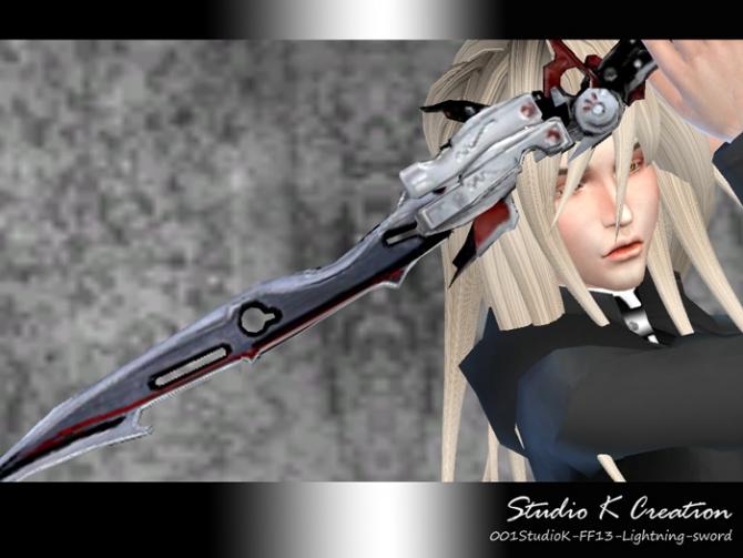 Sims 4 FF13 Lightning sword at Studio K Creation