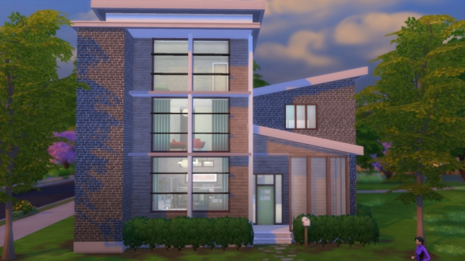 Sims 4 Modern Townhouse by RayanStar at Mod The Sims
