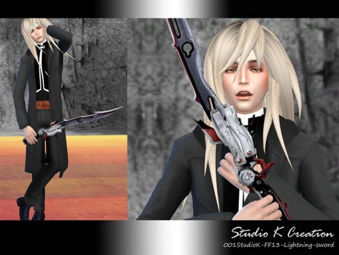 FF13 Lightning sword at Studio K Creation image 3318 Sims 4 Updates