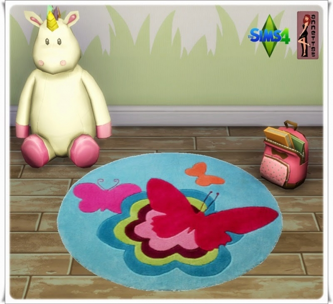 Sims 4 Butterfly Nursery Rugs at Annett's Sims 4 Welt