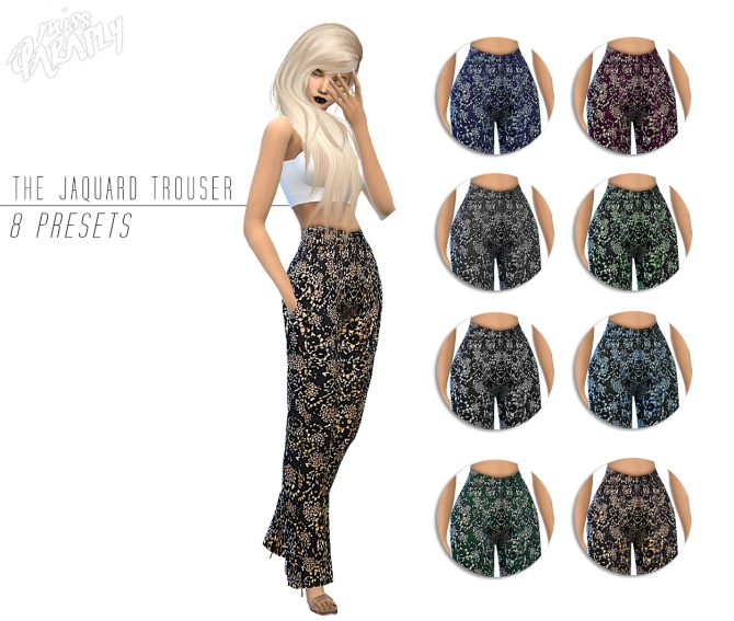 The Jaquard Trouser at Miss Paraply image 344 Sims 4 Updates