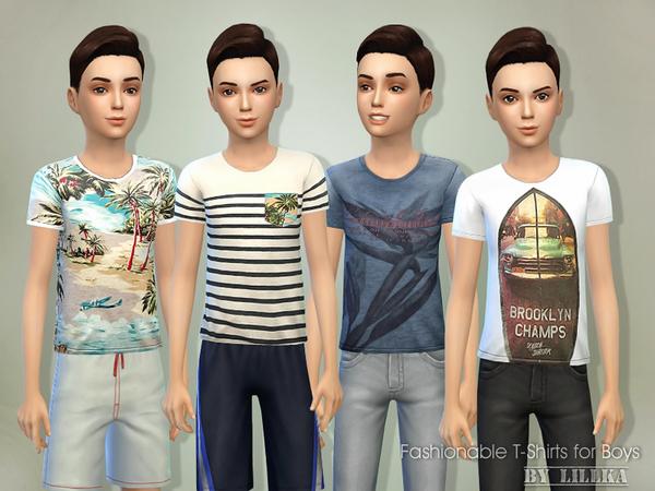 Sims 4 T Shirts for Boys 01 by lillka at TSR