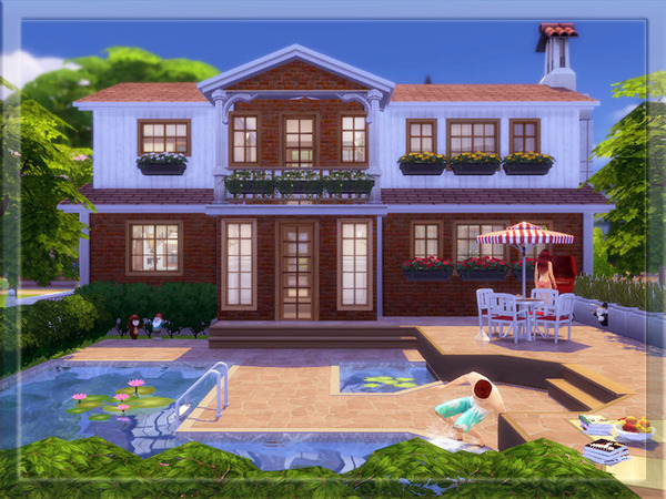 Sims 4 V | 08 Fully Furnished house by Vidia at TSR