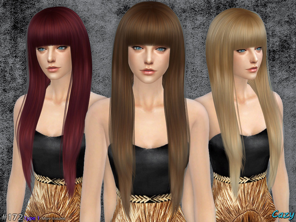Sims 4 Izzy Female Hair by Cazy at TSR
