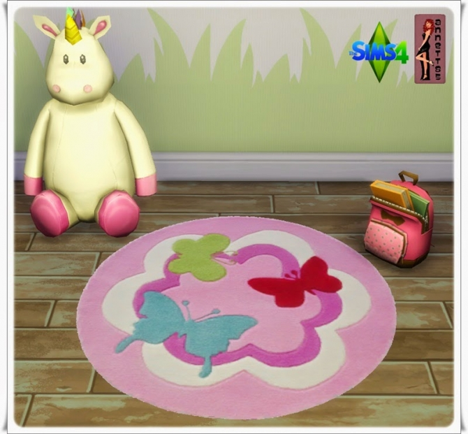 Butterfly Nursery Rugs at Annett's Sims 4 Welt image 359 Sims 4 Updates