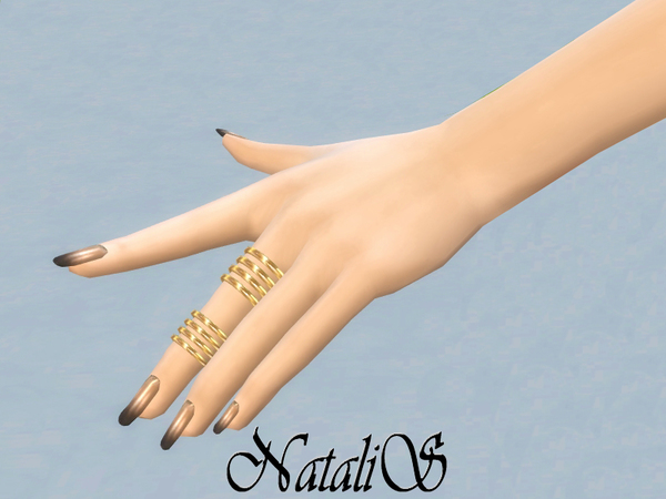 Middle finger stacks ring set by NataliS at TSR image 3651 Sims 4 Updates