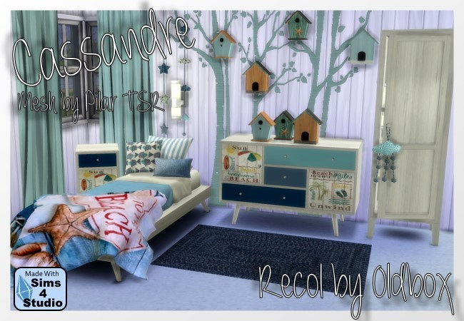 Pilaru0026#39;s Cassandre Bedroom recolor by Oldbox at All 4 Sims u00bb Sims 4 Updates
