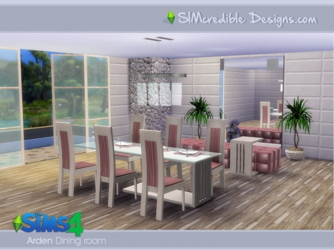 Arden dining room by simcredible at tsr sims 4 updates for Dining room ideas sims 4