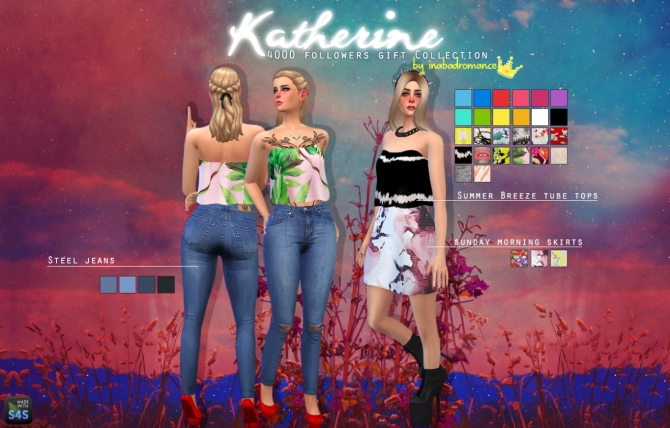 Katherine Tops, Skirts & Jeans at In a bad Romance image 3810 Sims 4 Updates