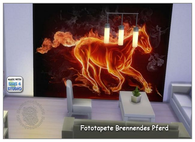 Burning Horse Wallpaper By Sonnenschein56 At Sims Marktplatz