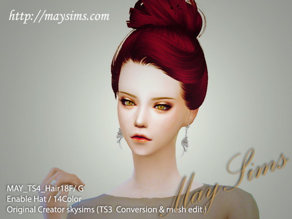 Request Hair 19F / G (Skysims) at May Sims image 3891 Sims 4 Updates