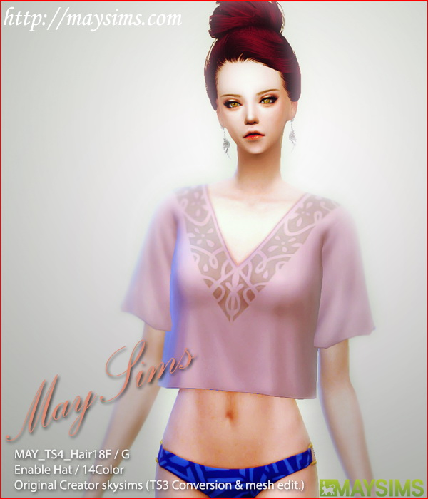 Sims 4 Request Hair 19F / G (Skysims) at May Sims