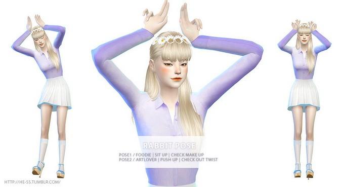Sims 4 RABBIT POSE CAS & PLAY at HESS