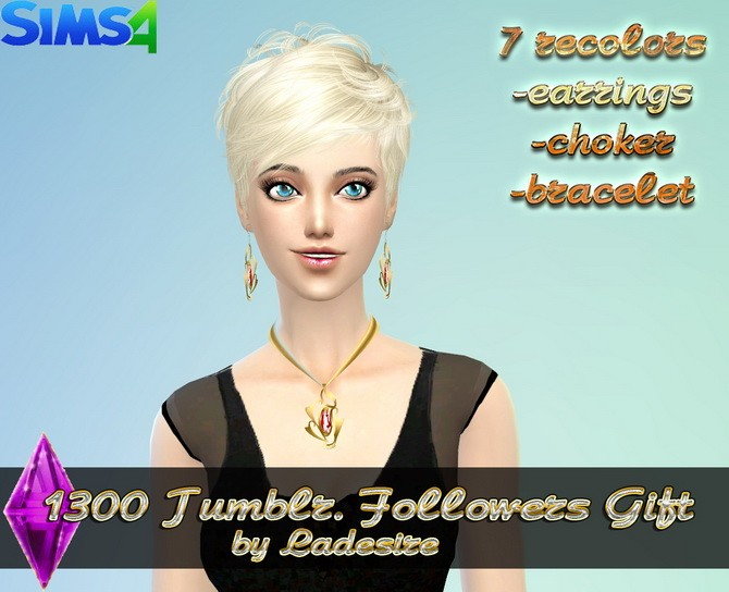 Earrings, necklace, bracelet at Ladesire image 3941 670x544 Sims 4 Updates