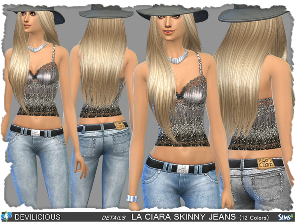 Sims 4 La Ciara Skinny Jeans by Devilicious at TSR