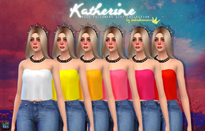 Katherine Tops, Skirts & Jeans at In a bad Romance image 4010 Sims 4 Updates