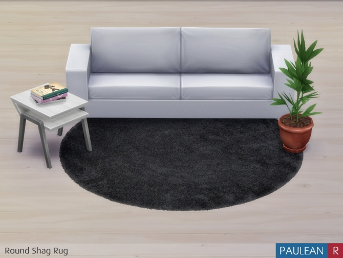 Sims 4 Round Shag Rug at Paulean R