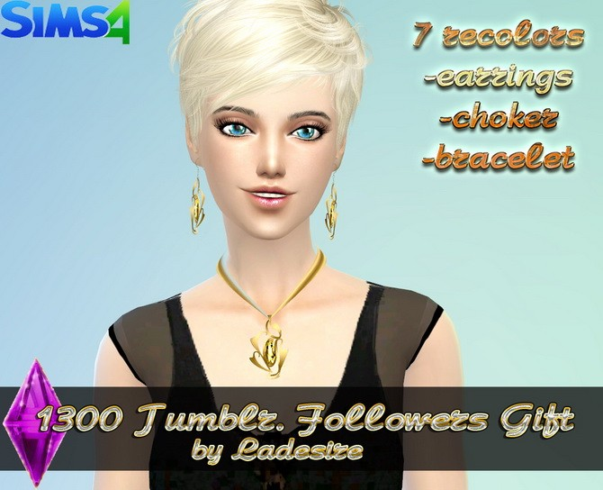 Earrings, necklace, bracelet at Ladesire image 4041 670x544 Sims 4 Updates