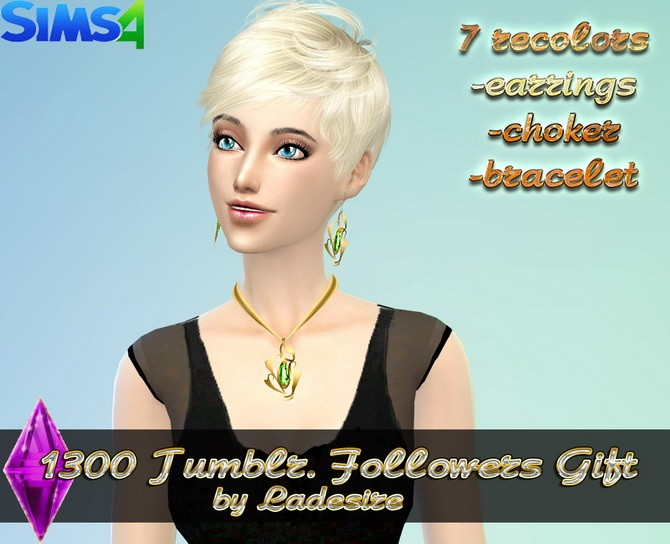 Earrings, necklace, bracelet at Ladesire image 4151 670x544 Sims 4 Updates