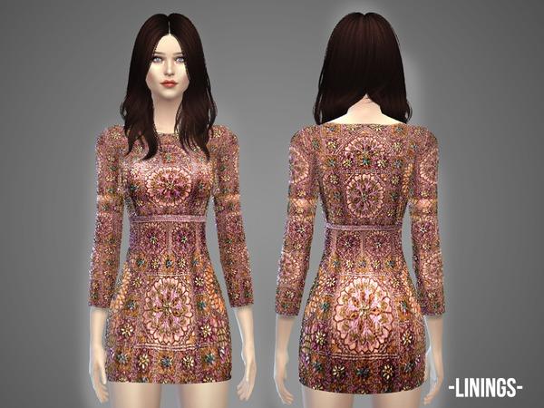 Sims 4 Linings dress by April at TSR