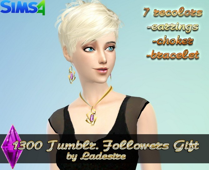 Earrings, necklace, bracelet at Ladesire image 4241 670x544 Sims 4 Updates