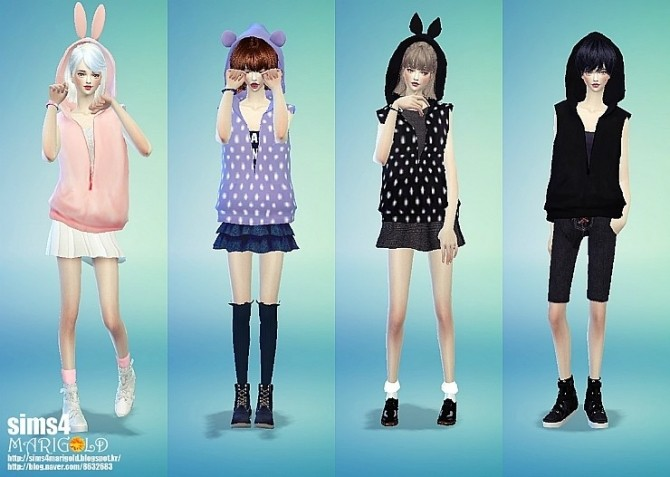 Female ears hood vest acc. at Marigold image 43110 670x477 Sims 4 Updates