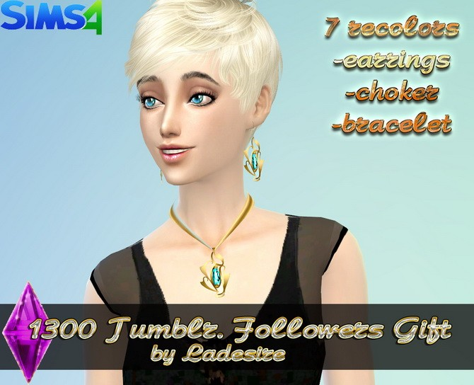 Earrings, necklace, bracelet at Ladesire image 4331 670x544 Sims 4 Updates
