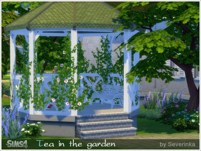 Tea in the garden garden set at Sims by Severinka image 439 Sims 4 Updates