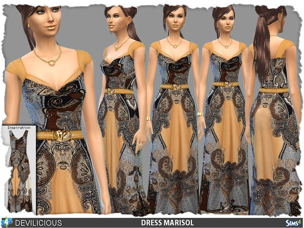 Sims 4 Dress Marisol by Devilicious at TSR