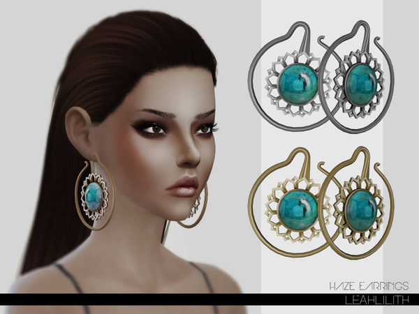 Haze Earrings by LeahLillith at TSR image 4417 Sims 4 Updates