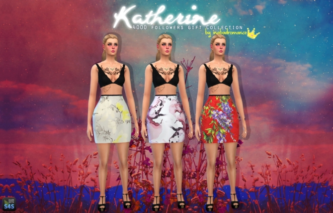 Sims 4 Katherine Tops, Skirts & Jeans at In a bad Romance