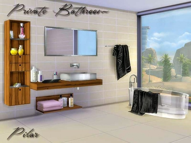 Private Bathroom by Pilar at SimControl image 45101 670x503 Sims 4 Updates