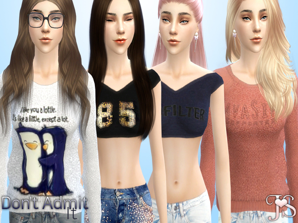 Sims 4 Dont Admit It! Set by JavaSims at TSR