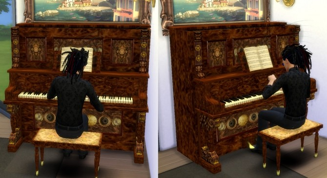 The Sims 2 Upright Saloon Piano By Esmeralda At Mod The