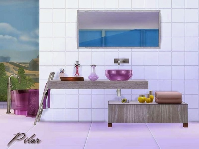 Private Bathroom by Pilar at SimControl image 46101 670x503 Sims 4 Updates