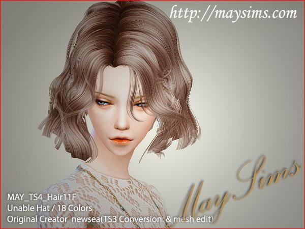 Hair 11F / G conversion (Newsea) at May Sims image 467 Sims 4 Updates