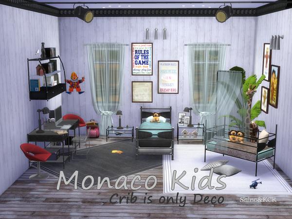 Sims 4 Kids Monaco Room by ShinoKCR at TSR