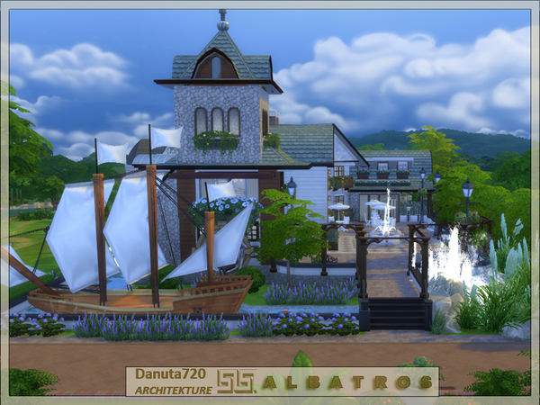 ALBATROSS house by Danuta720 at TSR image 4715 Sims 4 Updates