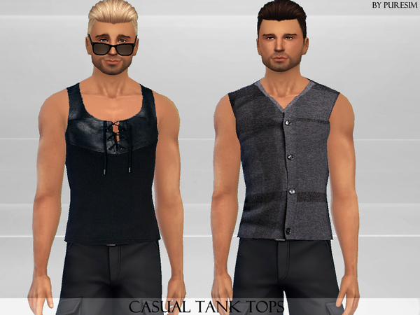 Sims 4 Tank Tops by Puresim at TSR