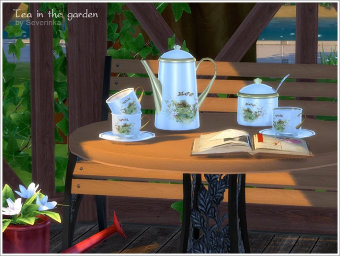Tea in the garden garden set at Sims by Severinka image 476 Sims 4 Updates