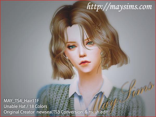 Hair 11F / G conversion (Newsea) at May Sims image 477 Sims 4 Updates