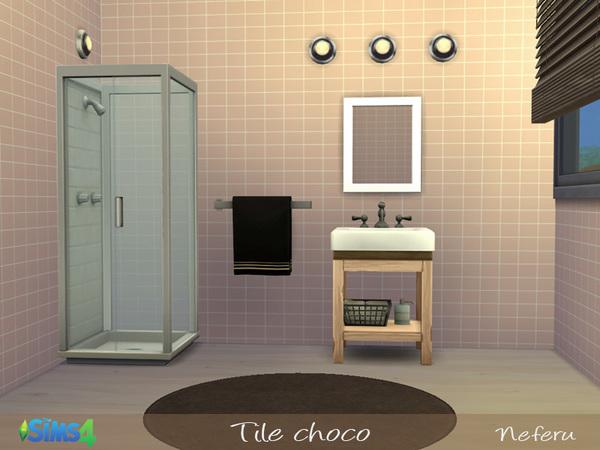 Sims 4 Tile choco by Neferu at TSR