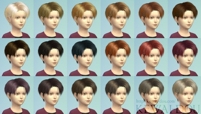 Sims 4 Levi's hair for child male by Mia at KEWAI DOU
