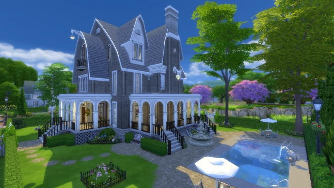 Sims 4 Monticlair Mansion Redux by pollycranopolis at Mod The Sims