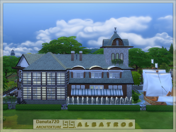 Sims 4 ALBATROSS house by Danuta720 at TSR