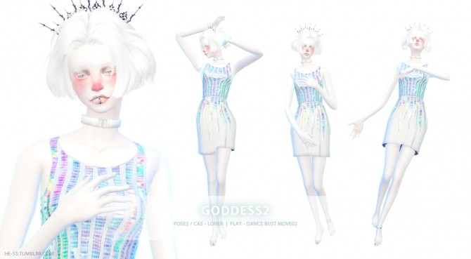 Goddess Pose 1 2 Play Ver Edit At Hess 187 Sims 4 Updates