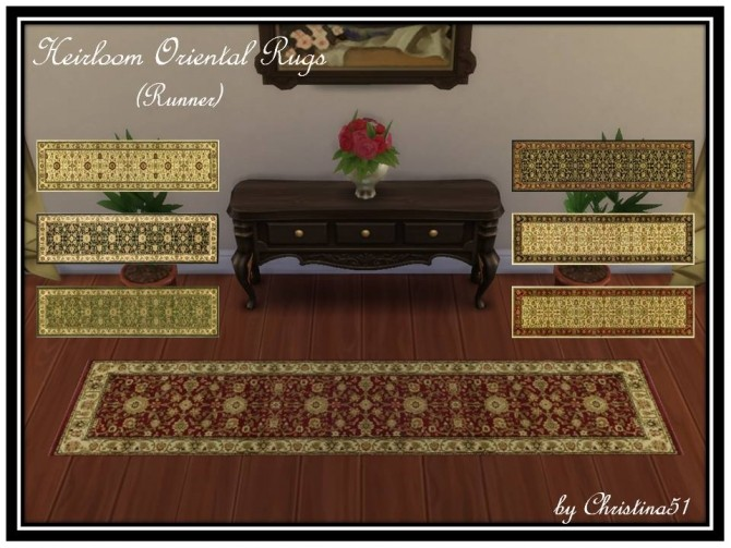 Heirloom Oriental Rugs (Runner) by Christina51 at Mod The Sims image 4918 670x503 Sims 4 Updates