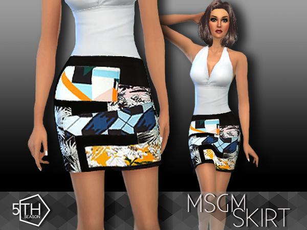 MSGM skirt by 5th Season at TSR image 4921 Sims 4 Updates