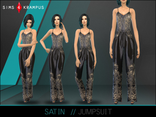 Sims 4 Satin Jumpsuit by SIms4Krampus at TSR
