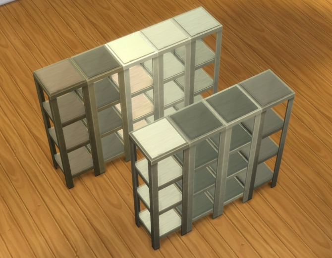 RAW Shelves By Plasticbox At Mod The Sims Sims 4 Updates